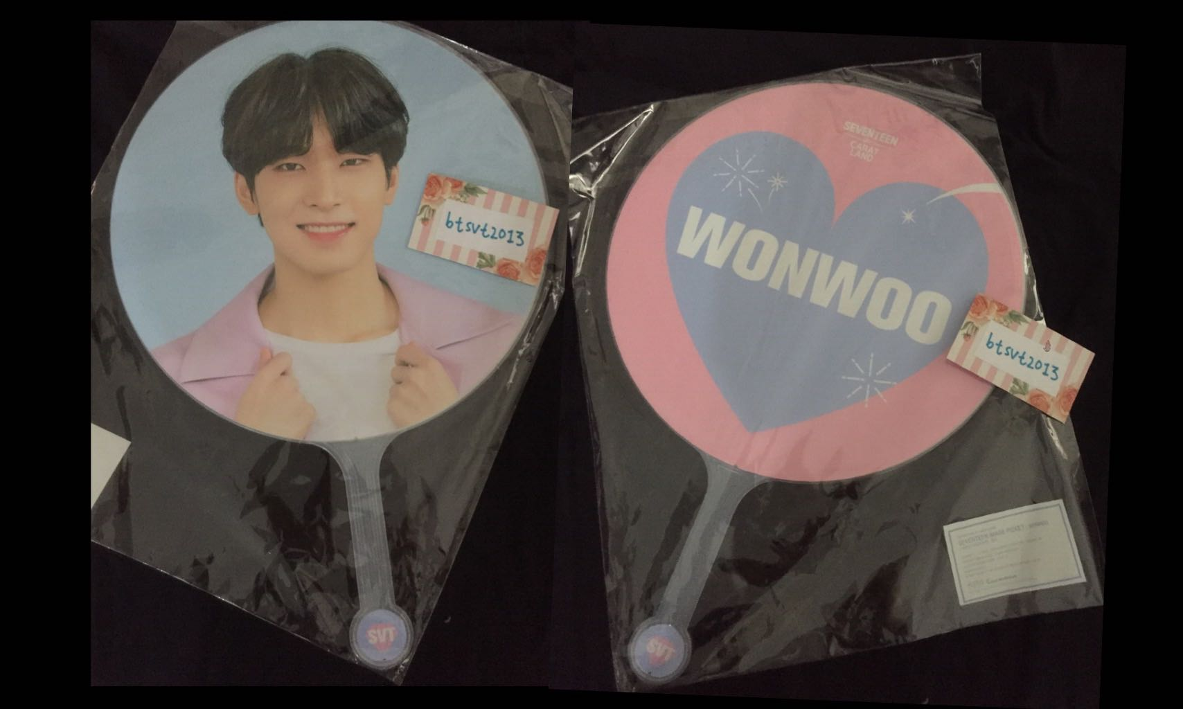 SEALED/NEW OFFICIAL Seventeen Wonwoo 2019 Caratland Image Picket / Uchiwa ‬