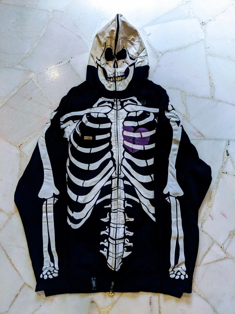 Lrg Dead Serious Skeleton Hoodie On Carousell