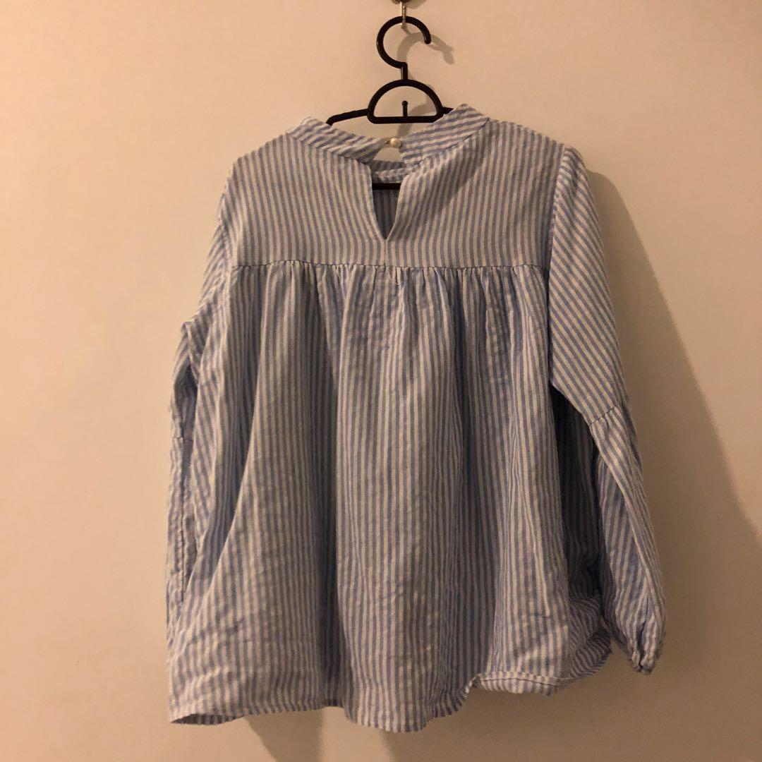 Stripe (baby blue)Blouse