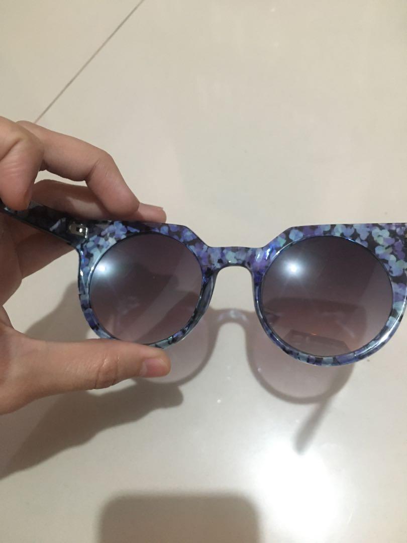 Sunglasses Blue Print