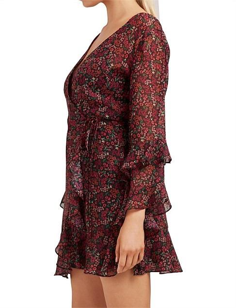 The Fifth Label Elective Long Sleeve Wrap Dress Size M