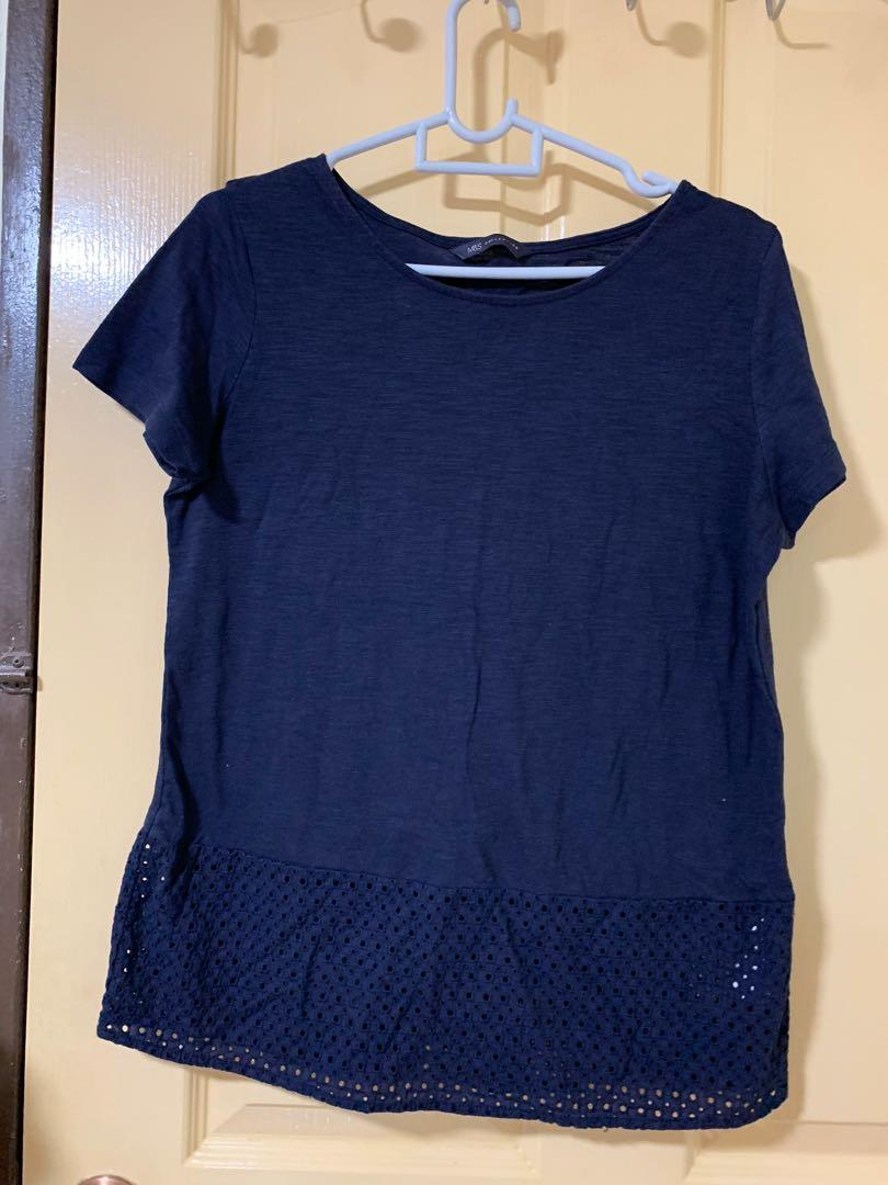 Navy Blue sexy  TOP by Marks and Spencer