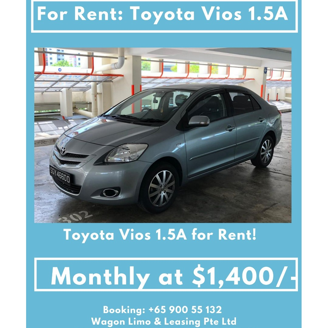 Toyota Vios for Long Term Rent