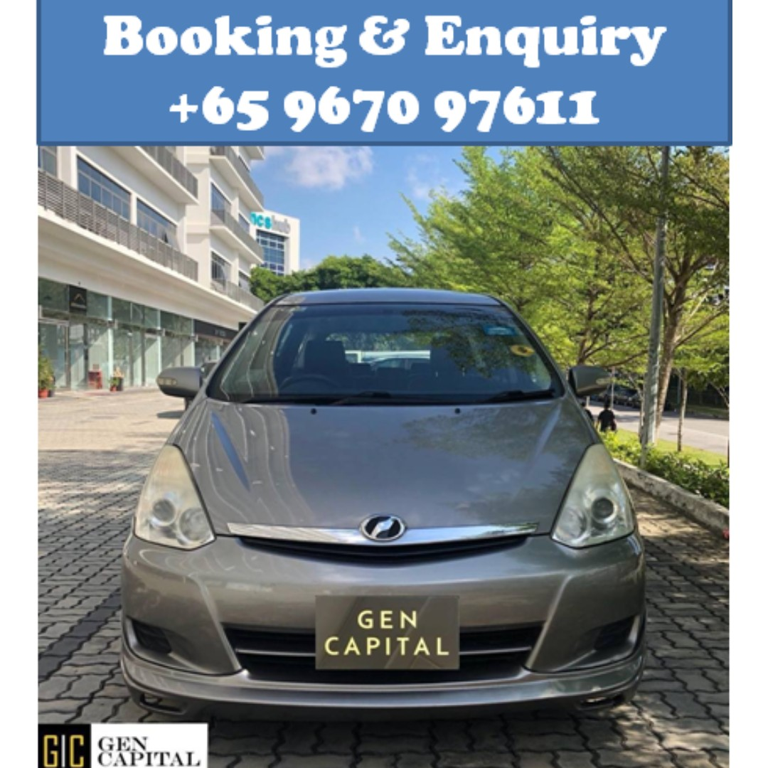 Toyota Wish 1.8A @ Lowest rental rates, good condition!