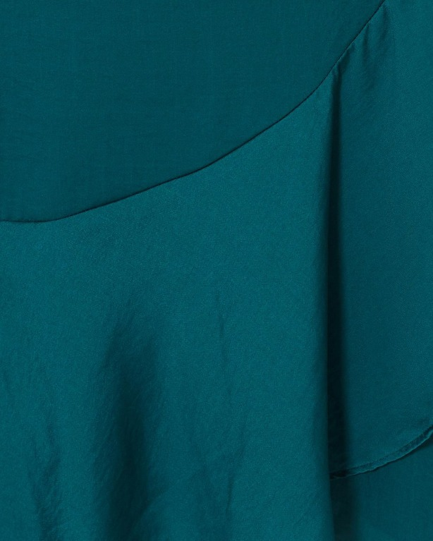 Tussah Mona Wrap Dress in Forest Emerald Blue Green Size 6