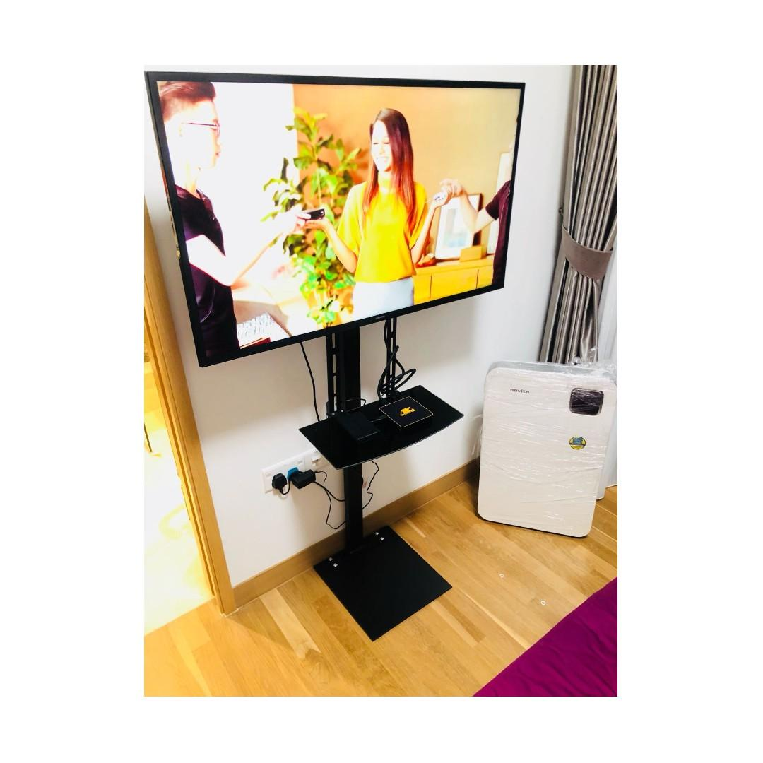"TV Floor Stand with DVD shelf 32-55"" Samsung LG Whatsapp:8778 1601"