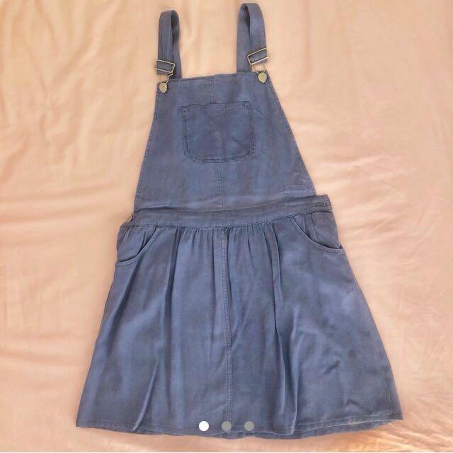 Wayne Cooper Jnr | Denim/Chambray Pinafore Overall Skirt