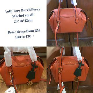 Auth Tory Burch Perry Satchel Small