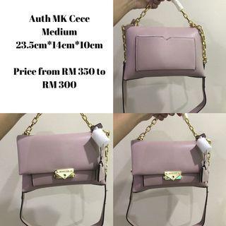 Auth MK Cece Medium Pink