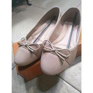 Flat shoes ribbon coksu