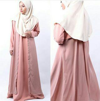 Faatima&Co Saffra Dress in Peach Pink Size XL