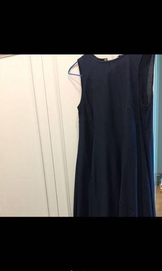 'Maxmara藍色無袖洋裝