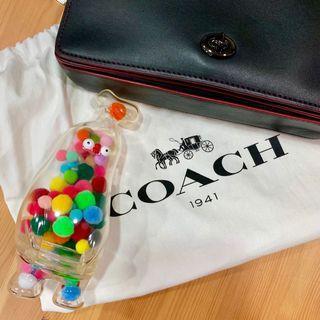 Coach 1941系列 九成新 正櫃 保證正品 Dinky 經典棒球鞣皮黑色斜背包 高級黑 質感黑