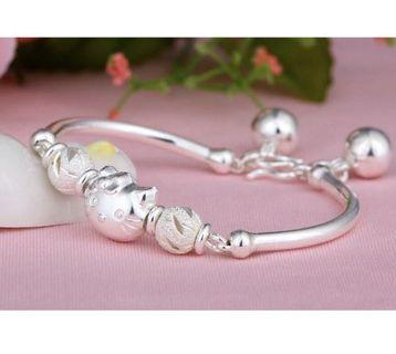 台灣現貨快速出貨🌈kitty可愛925純銀手環盒裝組