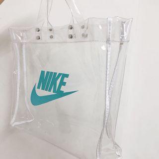Nike 透明海灘包 托特包 旅行 comme des garcons plain me