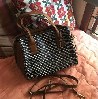 New Fossil Fiona Satchel Brown Multi