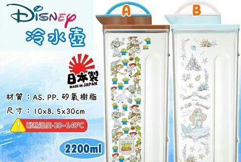 迪士尼冷水壺玩具總動員水壺小美人魚野餐水壺露營水壺