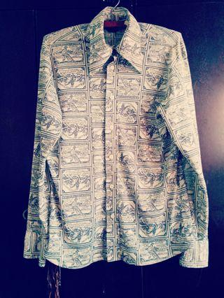 Vintage Shirt levis full print made in usq