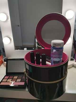 Lancome makeup and makeup bag