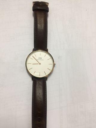 DW 正品大錶徑手錶(兩副錶帶可替換唷)
