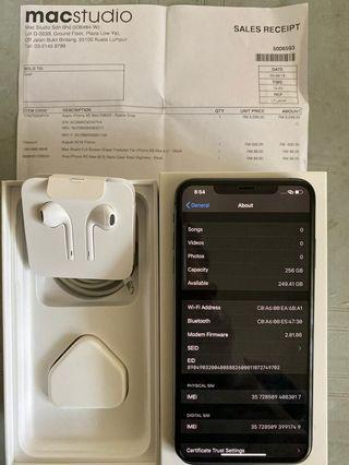 Iphone xs max 256gb grey myset warranty august 2020