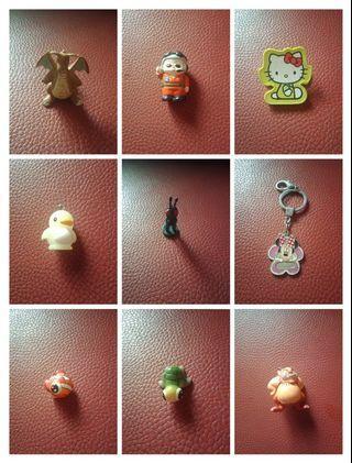 限時優惠到10/31【全部】裝飾品&公仔出清:神奇寶貝公仔、飛行員公仔、Hello Kitty小夾子、企鵝公仔、米妮吊飾、金魚公仔、海龜公仔、相撲公仔、彈珠