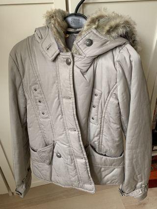 #五折清衣櫃 韓版時尚銀灰色保暖外套🧥