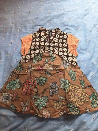 Dress batik anak model chongsam