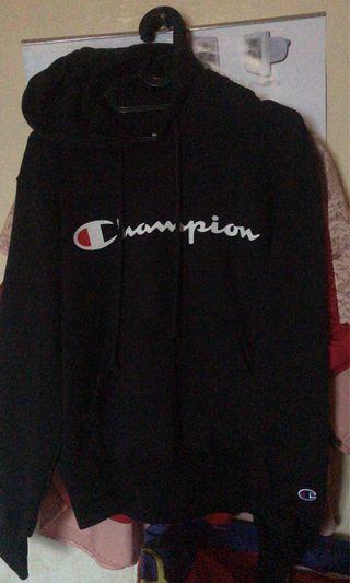 Hoodiee champion script logo black size M 100% original