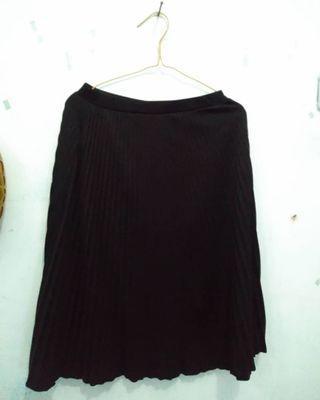 Black Plisket Skirt