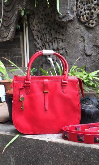 Ryder satchel medium poppy red