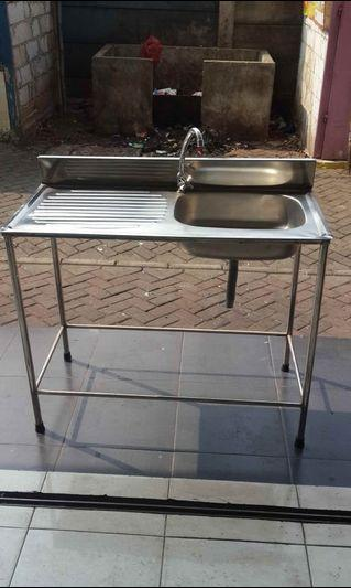 Sink Stainless 1 lubang uk.P.100 x l.50 x T.80 cm