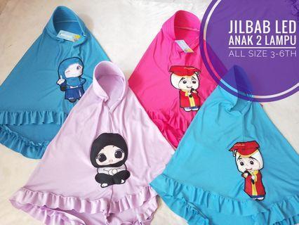 Jilbab LED anak