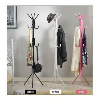 12 hook hanging pole rack clothes hanger coat stand storage