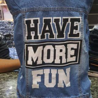 Jaket sablon jeans cewek