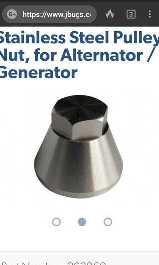 VW Generator/Alternator pulley Nut