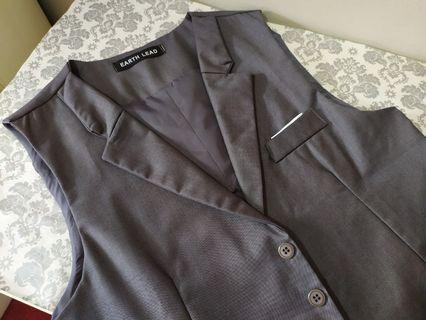 Men's Grey Work Vest