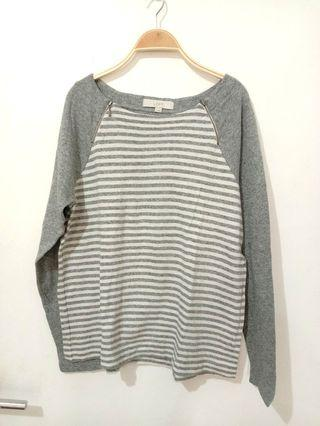Grey white blouse |baggy blouse |baggy sweater