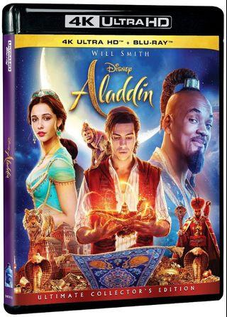 English Movie Disney Aladdin 4K Ultra HD + Blu-ray Will Smith