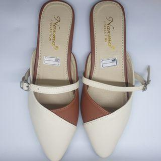 Mules sandals cream brown (NEW)
