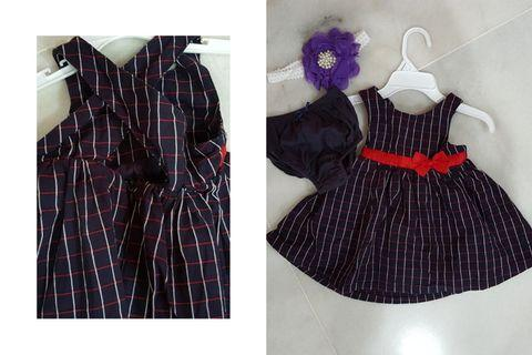 Hush Puppies Dress for 3months to 12months (Used) Free New Hair Band