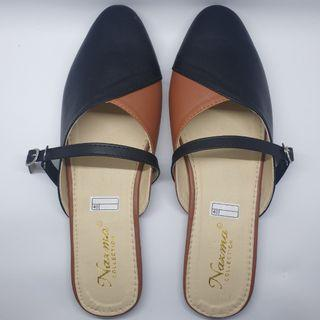 Sandals mules black brown (NEW)