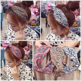 韓國 雙扭結幾何圖騰髮箍