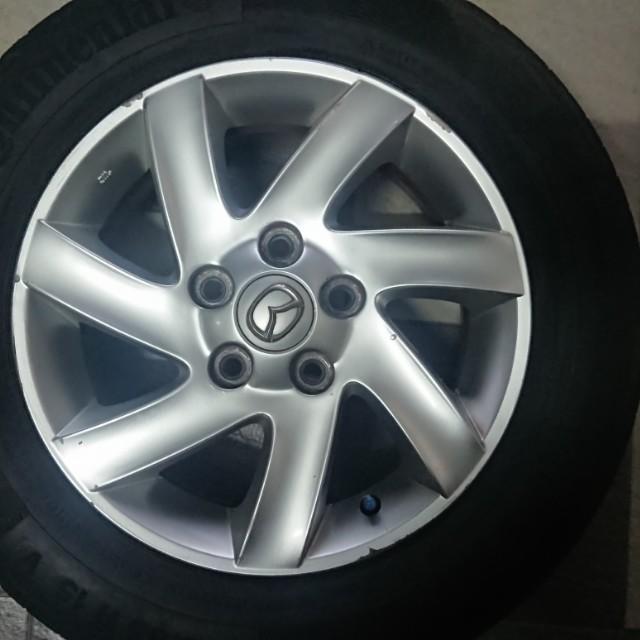 馬三15吋鋁圈+馬牌輪胎cpc5 .輪胎約剩三成