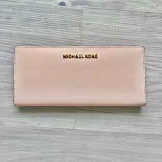 [全新現貨]Michael kors淡粉色薄長夾 芭蕾粉