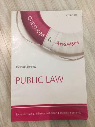 (AUTHENTIC) Public law- Q&A (Oxford)