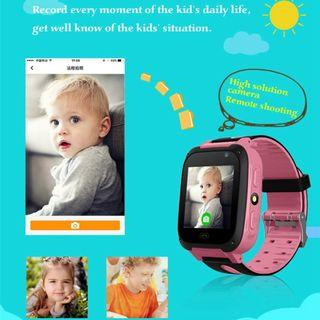 C4 Kids Smart Watch Accurate GSM Tracker SOS Anti-Lost Children Color Touch Screen Selfie Camera