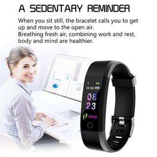 SmartBand Sport ID115 Plus Color Screen Waterproof Fitness Dynamic Heart Monitor