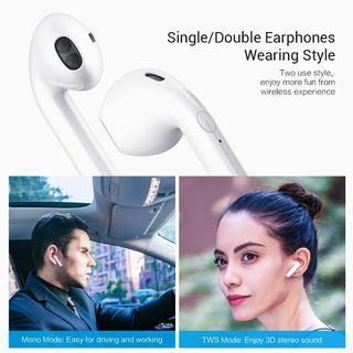 i9s TWS HiFi Bluetooth Earphones In-Ear Music Voice Earbuds Stereo Headset Box iPhone Andriod V5.0