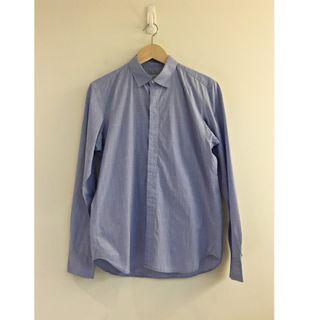 【二手】YU SELECT-優選 nonnative 1號(S)日本製藍色格紋長袖襯衫